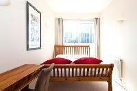 xhic and charming wooden bed in London City of London Penthouse luxury apartment