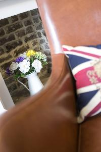 cool Union Jack throw pillow in London Stylish Camden 2 BR luxury apartment