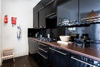 cool modern kitchen of London Stylish Camden 2 BR luxury apartment