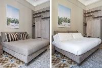 crisp and clean bedroom linens in Barcelona - Luxury Cornelia luxury apartment