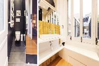 neat and trim toilet and bath in Barcelona - Modern Eliseos luxury apartment