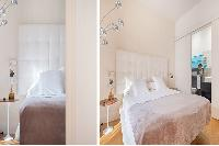 clean and crisp bedroom linens in Barcelona - Elegant Julieta luxury apartment