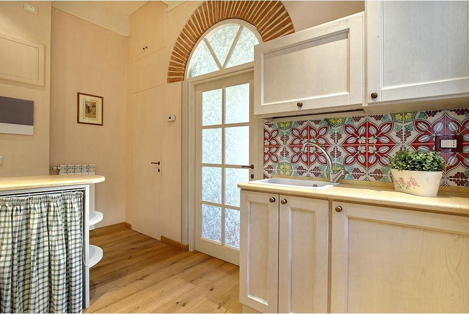 neat kitchen of Tuscany - Florence Cupido 1BR luxury apartment