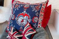 awesome Diana and Charles throw pillow in London Framery Loft luxury apartment
