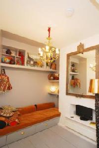 vibrant bedroom furnishings in London Framery 5 luxury apartment