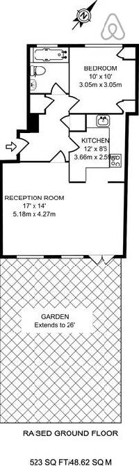 nice floor plan of London Framery Shoreditch One luxury apartment