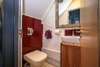 fresh and clean toilet in London Framery Studio Workshop luxury apartment