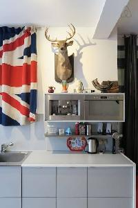 nice kitchen cabinets in London Framery Studio Workshop luxury apartment