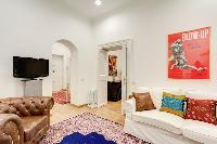 lovely living room of Rome - Via della Croce I luxury apartment