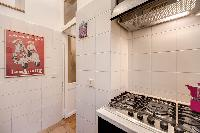 awesome kitchen of Rome - Via della Croce III luxury apartment