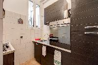 swanky kitchen in Rome - Via della Croce III luxury apartment