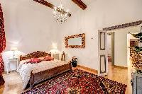 chic bedroom in Rome - Via della Croce III luxury apartment