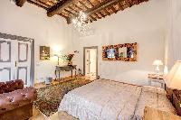 fresh and clean bedroom linens in Rome - Via della Croce III luxury apartment