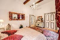 clean and fresh bedroom linens in Rome - Via della Croce III luxury apartment