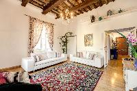 delightful living room of Rome - Via della Croce III luxury apartment