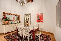delightful dining area in Rome - Via della Croce III luxury apartment