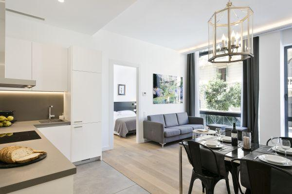 awesome open-plan living room of Barcelona - Palou Deluxe 1 luxury apartment