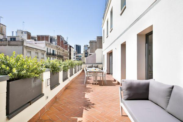 cool surroundings of Barcelona - Palou Deluxe with Huge Terrace luxury apartment