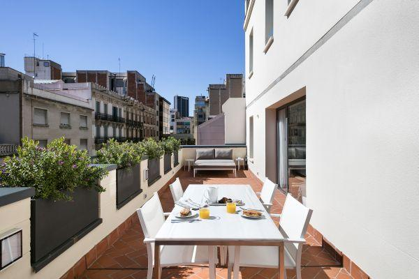 unforgettable alfresco dinners at Barcelona - Palou Deluxe with Huge Terrace luxury apartment