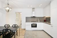modern kitchen appliances in Barcelona - Deluxe Palou Wide Living Room luxury apartment
