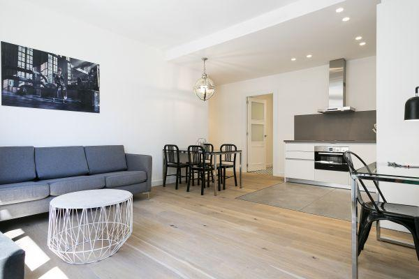fully furnished Barcelona - Deluxe Palou Wide Living Room luxury apartment
