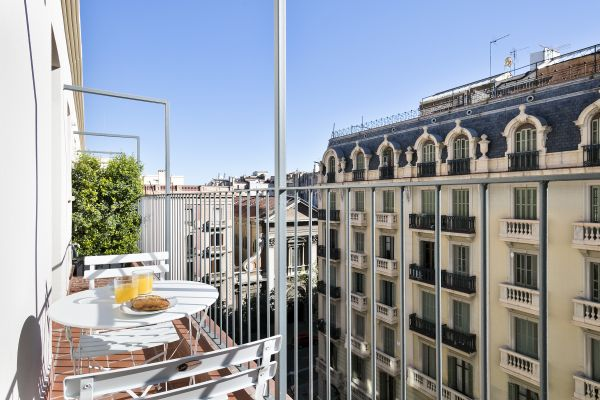 amazing view from the balcony of Barcelona - Deluxe Palou Penthouse luxury apartment