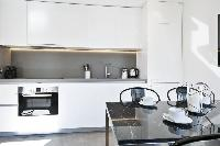 modern kitchen appliances in Barcelona - Deluxe Palou Superior Apartment luxury holiday home and vac