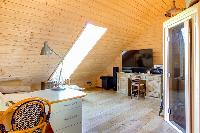 amazing barn ceiling of Brittany - Luxury Sailor House