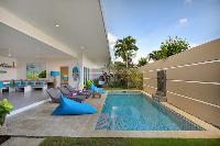 cool sun loungers at Bali Cosy Villa luxury apartment