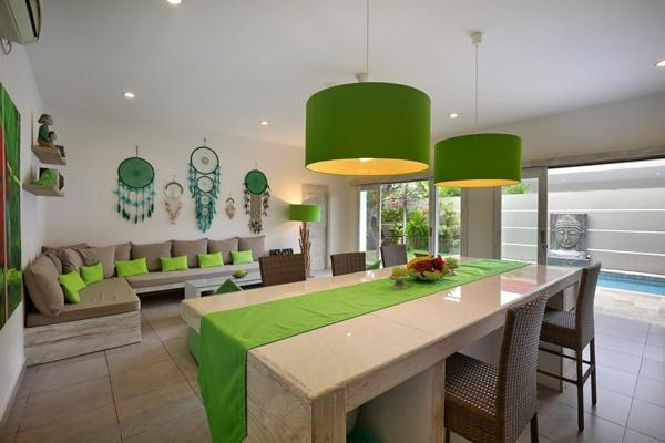 incredible open-plan living room of Bali Cosy Villa luxury apartment
