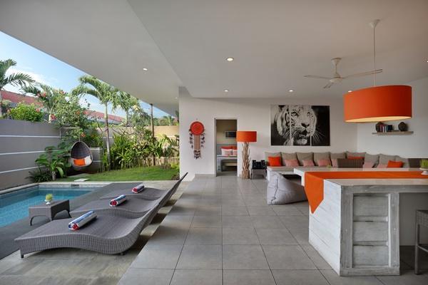 impressive lanai at Bali Cosy Villa luxury apartment