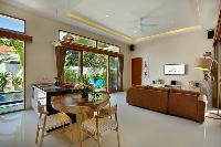 awesome open-plan living room of Bali - Legian Villa Holliday luxury apartment