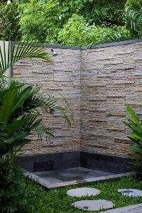 cool outdoor shower at Bali - Legian Villa Holliday luxury apartment