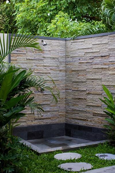 cool outdoor shower at Bali - Legian Villa Holliday luxury apartment