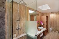 refreshing rain shower in Bali - Legian Ini Vie Villa 2BR luxury apartment