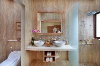 cool double-sink bathroom vanity in Bali - Legian Ini Vie Villa 2BR luxury apartment