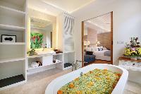 incredible bathroom with tub at Bali - Aleva Villa Seminyak luxury apartment
