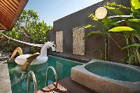 energizing pool and outdoor tub at Bali - Legian Kriyamaha Villa 3 luxury apartment