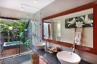 neat and trim lavatory in Bali - Legian Kriyamaha Villa 3 luxury apartment