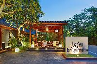 adorable pergola with plush patio furniture at Bali - Legian Kriyamaha Villa 3 luxury apartment