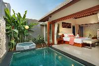 impeccable pool access from the bedroom of Bali - Legian Kriyamaha Villa 3 luxury apartment