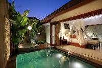 incredible pool access from the bedroom of Bali - Legian Kriyamaha Villa 3 luxury apartment