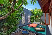 cool poolside lounge at Bali - Legian Kriyamaha Villa 3 luxury apartment