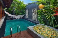 amazing outdoor tub at Bali - Legian Kriyamaha Villa 3 luxury apartment