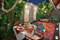 memorable alfresco dinners at Bali - Legian Kriyamaha Villa 3 luxury apartment