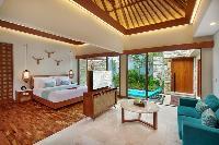 amazing ceiling of Bali - Seminyak Aksari Villa luxury apartment