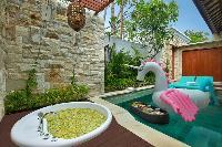 relaxing pool of Bali - Seminyak Aksari Villa luxury apartment