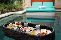 delicious meals served at Bali - Seminyak Aksari Villa luxury apartment