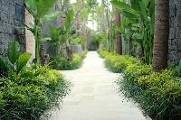 beautiful garden of Bali - Seminyak Aksari Villa luxury apartment