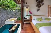 amazing pool access from the bedroom of Bali - Legian Ini Vie Villa 1BR luxury apartment